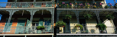 Flower Planter Photograph - Bourbon Street New Orleans La by Panoramic Images