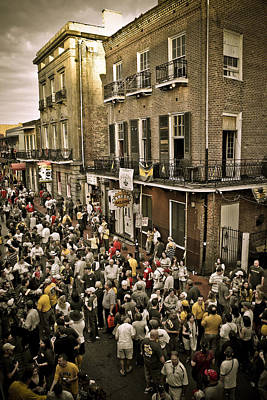 Art Print featuring the photograph Bourbon Street Party by Ray Devlin