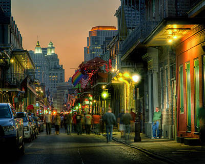 Art Print featuring the photograph Bourbon Sunset by Ray Devlin