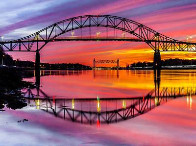 Dean Martin Photograph - Bourne Bridge Reflection by Dean Martin