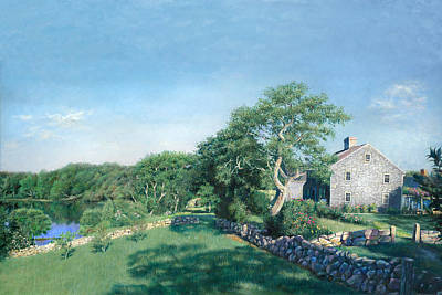 Cape Cod Painting - Bourne Farm Morning Cape Cod by Julia O'Malley-Keyes