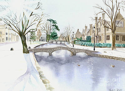 Painting - Bourton-on-the-water I by Elizabeth Lock