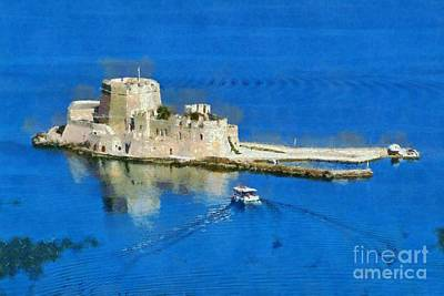 Painting - Bourtzi Fortress by George Atsametakis
