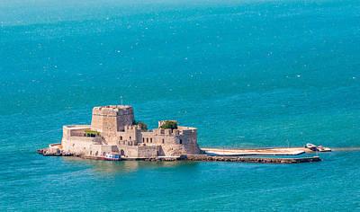 Photograph - Bourtzi Fortress by Gurgen Bakhshetsyan