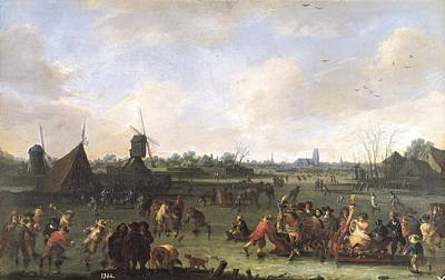 Pleasure Horse Photograph - Bout, Pieter 1658-1702. The Skaters by Everett