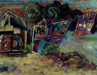 Painting - Boutique Gauguin by Elaine Elliott