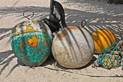 Bouys On The Beach Art Print by Kurt Gustafson