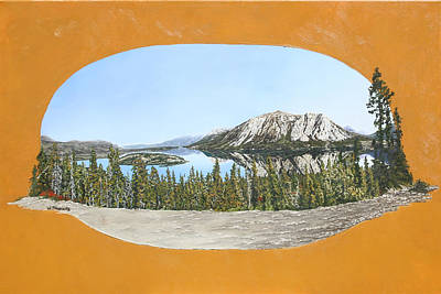 Art Print featuring the painting Bove Island Alaska by Wendy Shoults