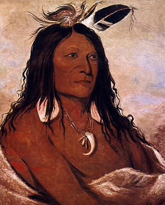 Comanche Painting - Bow & Quiver, 1832 by Granger