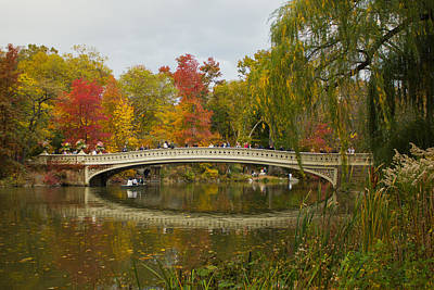 Art Print featuring the photograph Bow Bridge Central Park Ny by Jose Oquendo