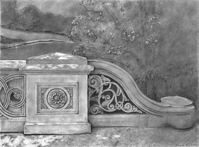 Cast Iron Drawing - Bow Bridge by Danyelle McDow