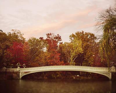 Photograph - Bow Bridge In Autumn by Irene Suchocki