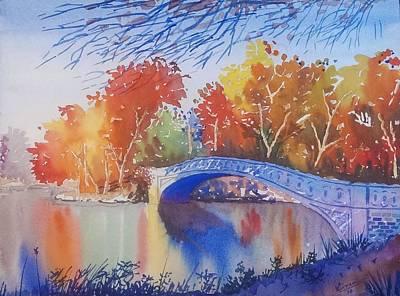 Bow Bridge New York Original by Kiran Mahajan
