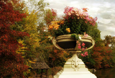 Planter Wall Art - Photograph - Bow Bridge Planter by Jessica Jenney