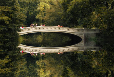 Refection Photograph - Bow Bridge Reflections by Jessica Jenney