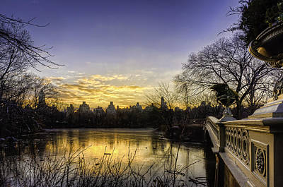 Bow Bridge Sunrise Art Print