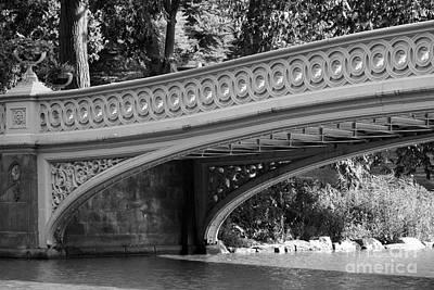 Bow Bridge Texture Bw Art Print