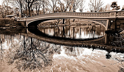 Bow Bridge Tinted Art Print