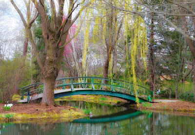 Bow Bridge Under The Willow Art Print by Bill Cannon