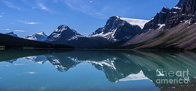 Bow Lake Reflecting Art Print by Scotts Scapes