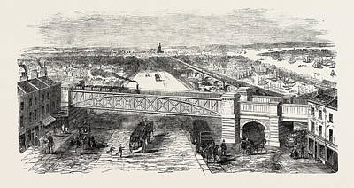 Early Spring Drawing - Bow Spring Bridge, Stepney Station by English School