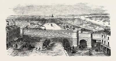 Bow Spring Bridge, Stepney Station Art Print by English School