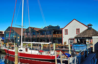 Photograph - Bowens Wharf In Newport by Mitchell R Grosky