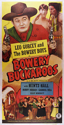 Iron Eyes Cody Photograph - Bowery Buckaroos, Us Poster, From Left by Everett