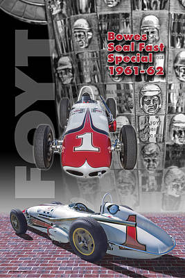 Indycar Photograph - Bowes Seal Fast Spl. 61-62 by Ed Dooley