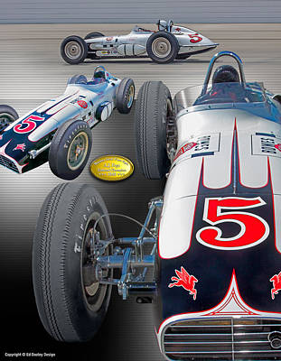 Photograph - Bowes Seal Fast Foyt 1960 by Ed Dooley