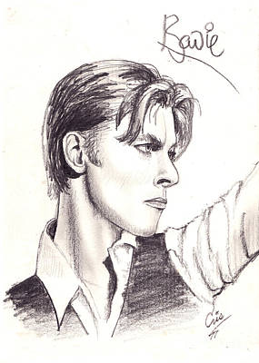 Drawing - Bowie by Cristophers Dream Artistry