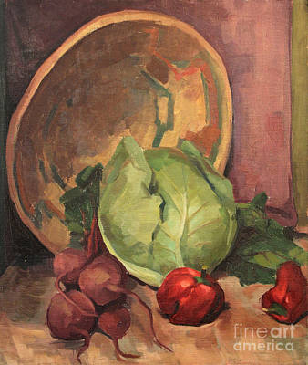 Painting - Bowl And Vegetables 1929 by Art By Tolpo Collection