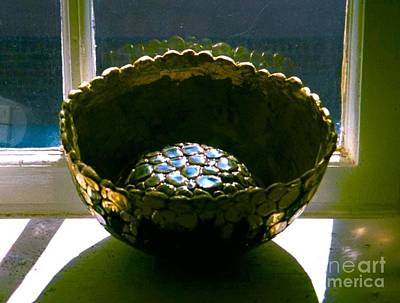 Design Pics - Bowl in Studio Window by Joan-Violet Stretch