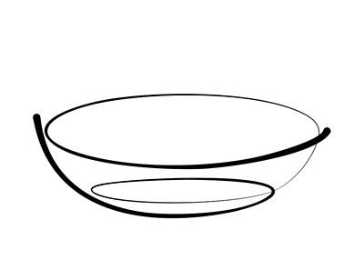Digital Art - Bowl Line by Pal Szeplaky