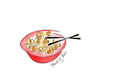 Painting - Bowl Of Bao by Anna Elkins