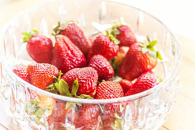 Juicy Strawberries Photograph - Bowl Of Berries by April Reppucci