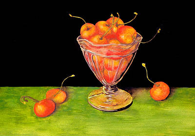 Painting - Bowl Of Cherries by Barbara J Blaisdell