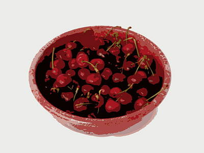 Photograph - Bowl Of Cherries by Ramona Johnston