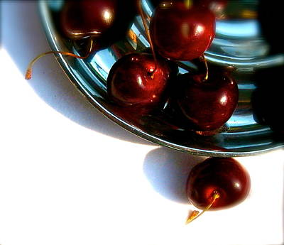 Bowl Of Cherries Art Print