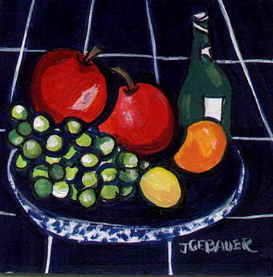 Art Print featuring the painting Bowl Of Fruit 1 by Joyce Gebauer
