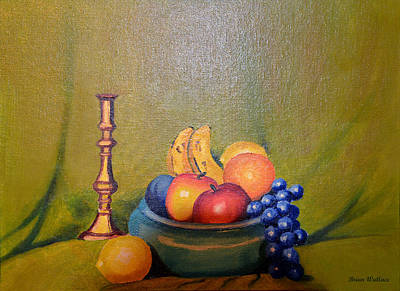 2d Painting - Bowl Of Fruit by Brian Wallace
