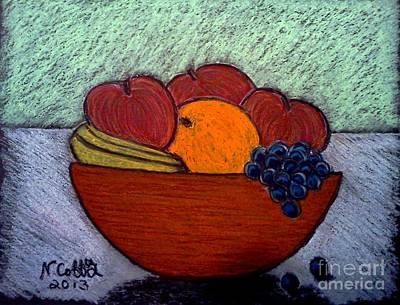 Pastel - Bowl Of Fruit by Neil Stuart Coffey