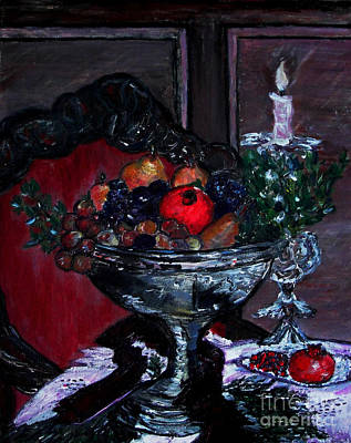 Painting - Bowl Of Holiday Passion by Helena Bebirian