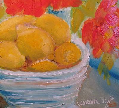 Bowl Of Lemons Original by Susan E Jones