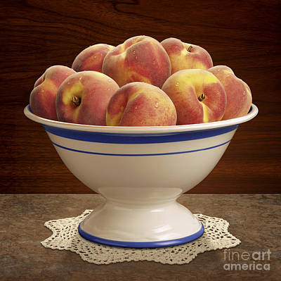 Bowl Of Peaches Art Print by Danny Smythe