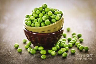 Pea Photograph - Bowl Of Peas by Elena Elisseeva