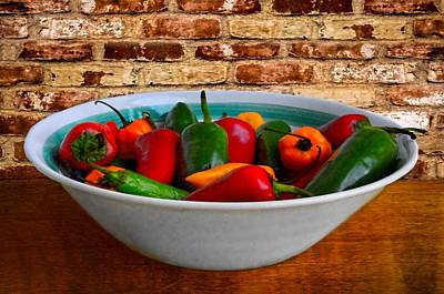Photograph - Bowl Of Peppers by Ken Smith