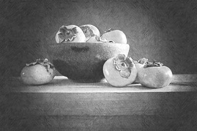 Photograph - Bowl Of Persimmons by Frank Wilson
