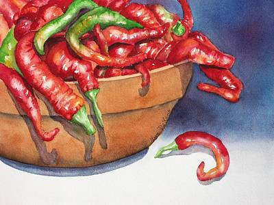 Bowl Of Red Hot Chili Peppers Original by Lyn DeLano