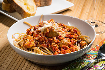 Food And Beverage Photograph - Bowl Of Spaghetti by Tod and Cynthia Grubbs